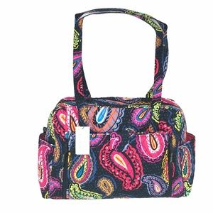 Vera Bradley Baby Bag, Twilight Paisley Pink Black